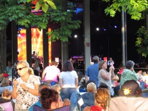 Light show Earth, Wind, & Fire concert at Tanglewood, June 18, 2016. Photo: Dave Read, BerkshireLinks.com.