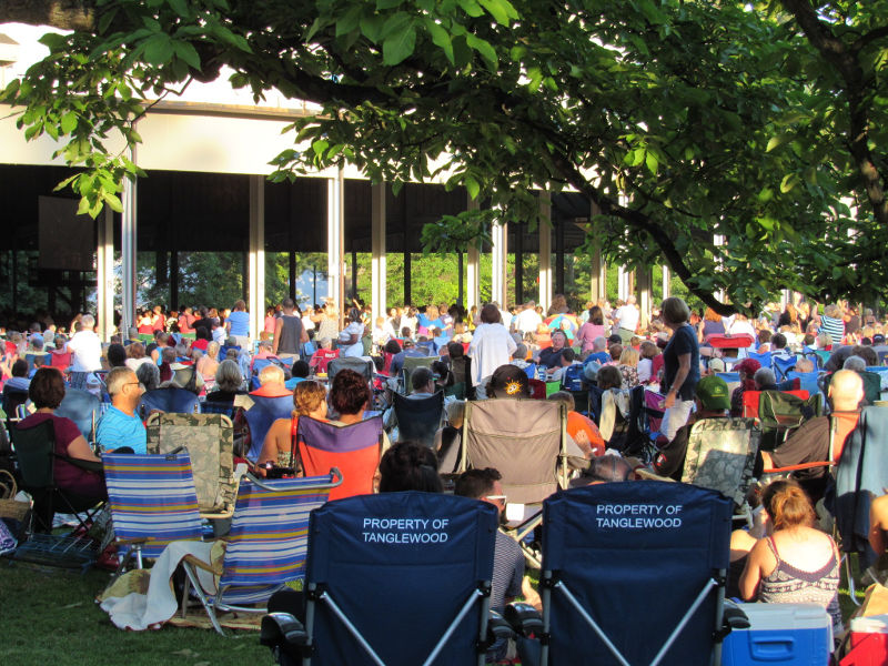 Tanglewood lawn chairs, June 18, 2016. Photo: Dave Read, BerkshireLinks.com.
