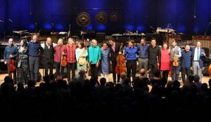 The Silk Road Ensemble, with Yo-yo Ma performed at Tanglewood Aug. 7, 2016; Hilary Scott photo.