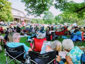 Tanglewood views June 17, 2018 Steven Stills Judy Collins concert