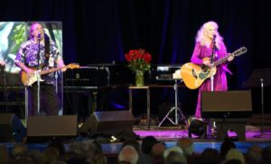Steven Stills and Judy Collins at Tanglewood June 17, 2018; Hilary Scott photo.