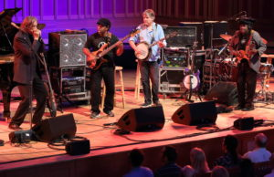 Bela Fleck and the Original Flecktones at Tanglewood, June 29, 2018; photo: Hilary Scott.