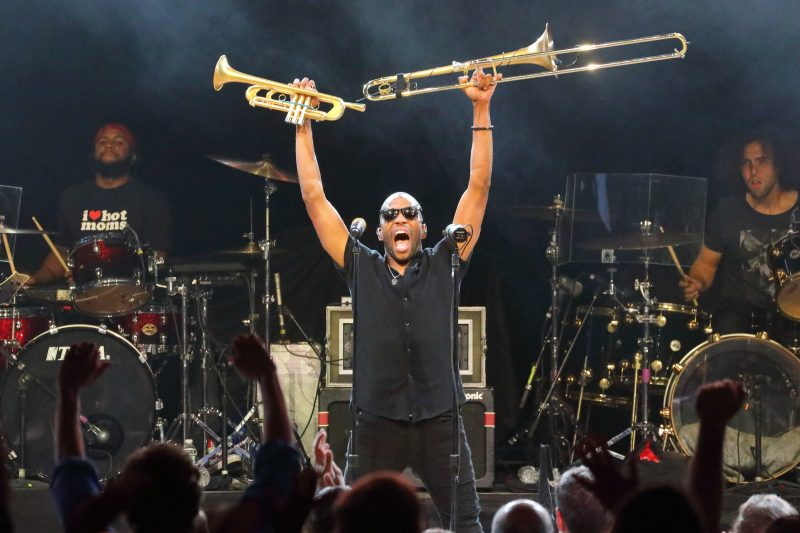 Trombone Shorty and Orleans Avenue 2019 Tanglewood concert review; photo:Hilary Scott.