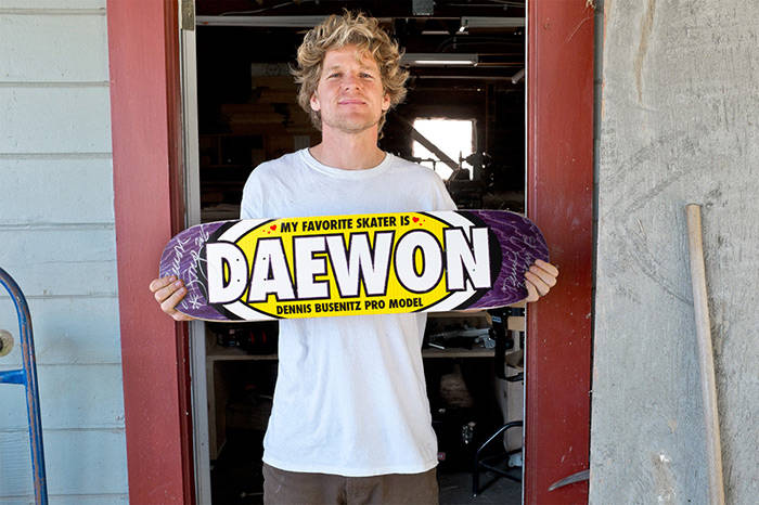 Dennis Busenitz's -- Favorite Skater Is Daewon Song