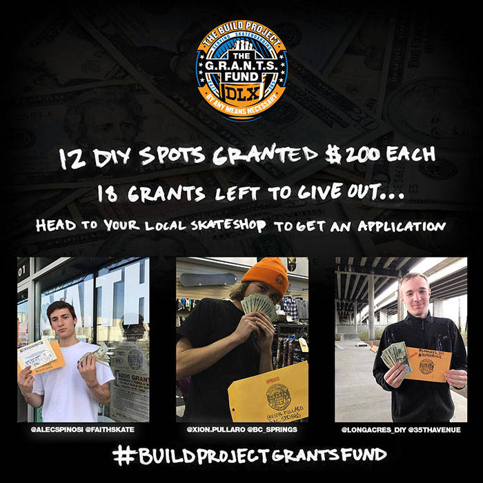 THE G.R.A.N.T.S. FUND -- DLX Is Helping Build DIY Spots