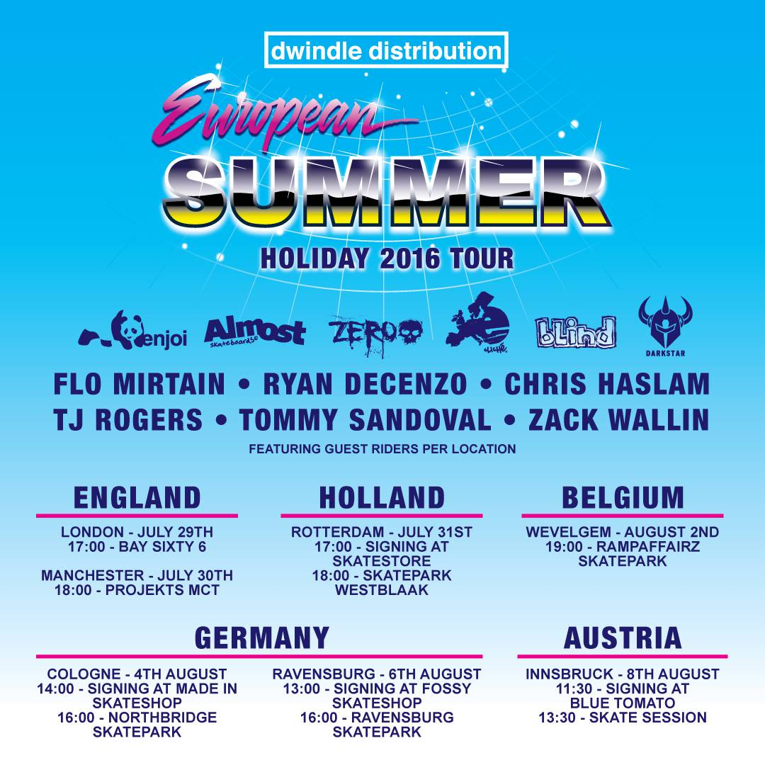 Dwindle European Summer -- Holiday 2016 Tour