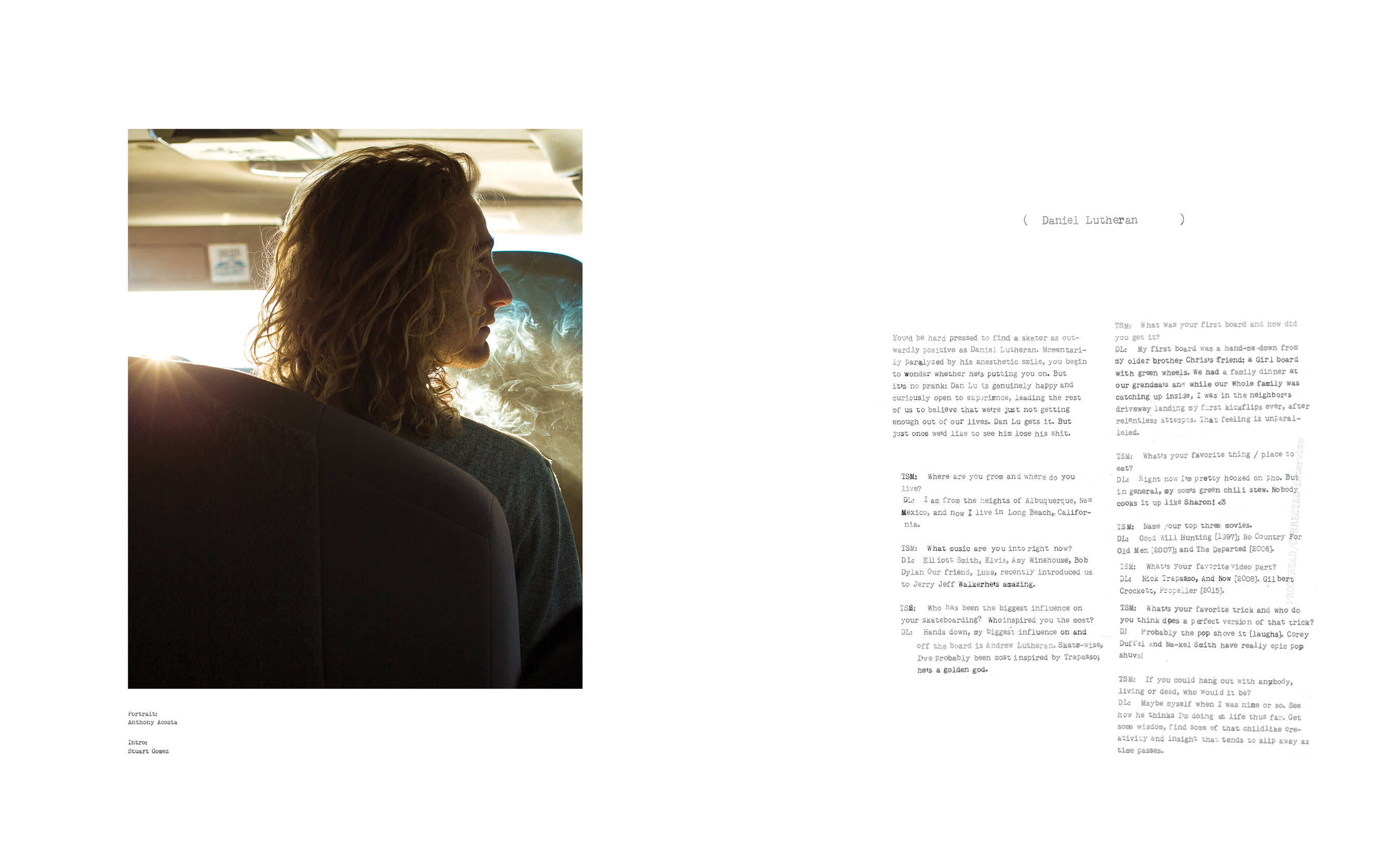 Daniel Lutheran The SKateboard Mag interview