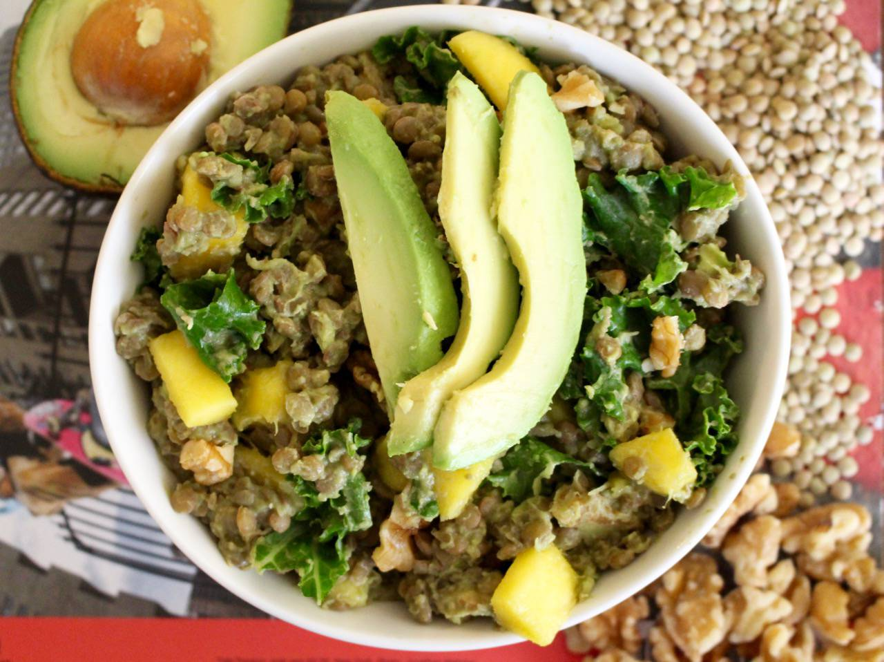 YAJE-INSPIRED AVOCADO LENTILS -- Salad Grinds and Bean Plants #16