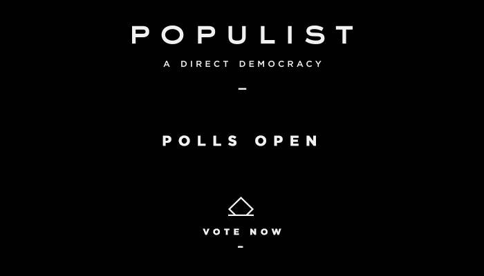 POPULIST POLLS ARE OPEN -- Voting Ends Friday