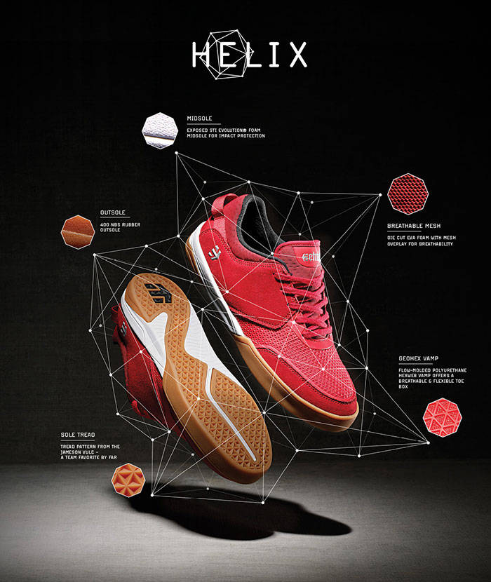 ETNIES INTRODUCES THE HELIX -- Designed For Fundamental Needs