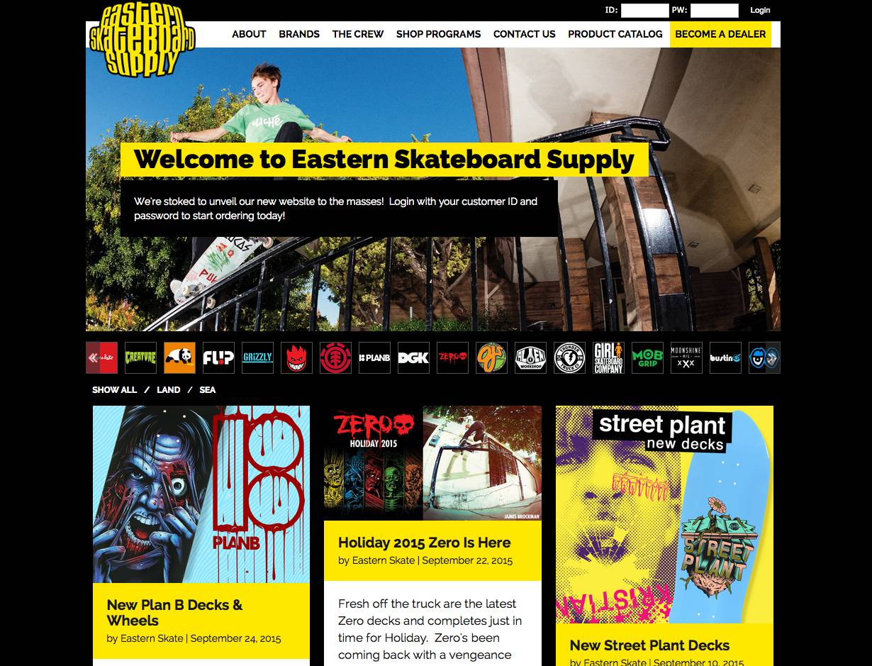 EASTERN SKATEBOARD SUPPLY -- Unveils New Site!