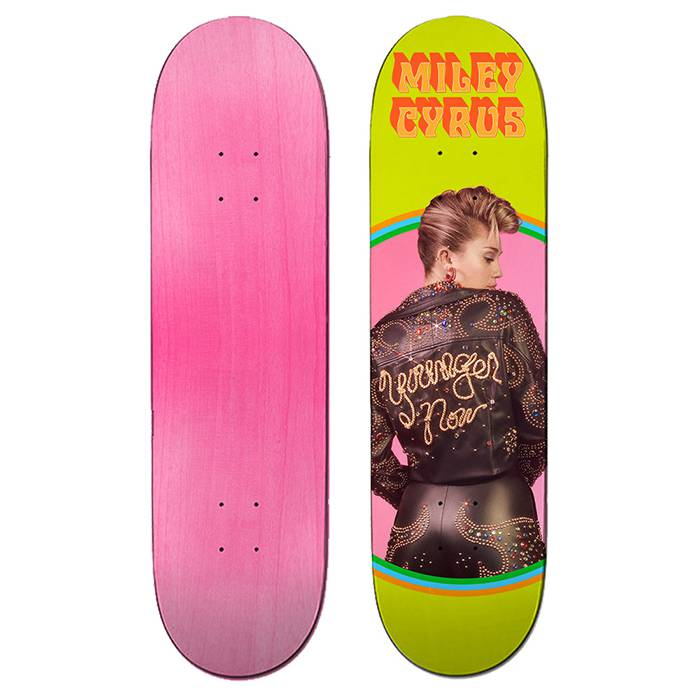 MILEY CYRUS -- Made a Skateboard Deck