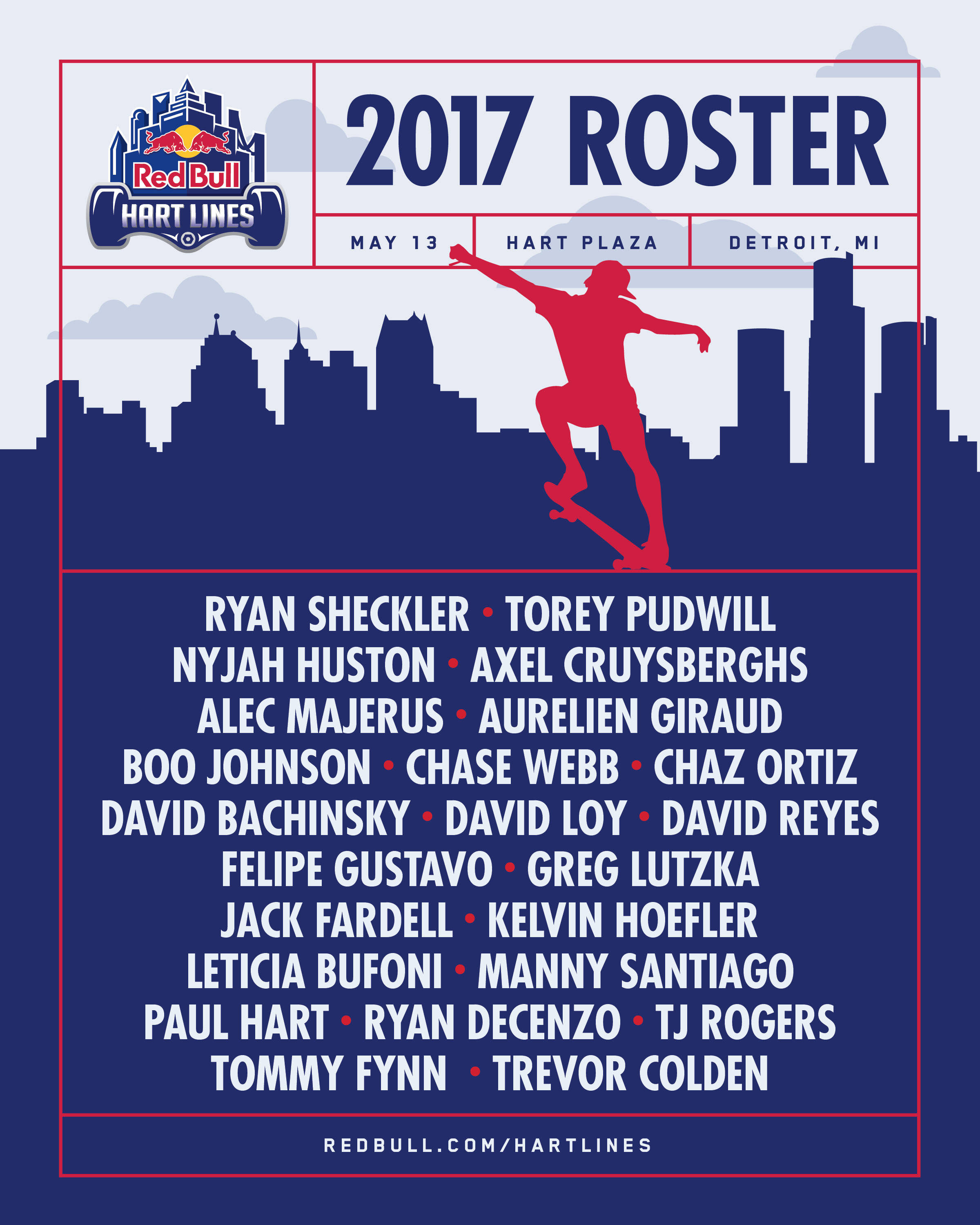 RED BULL HART LINES -- 2017 Roster