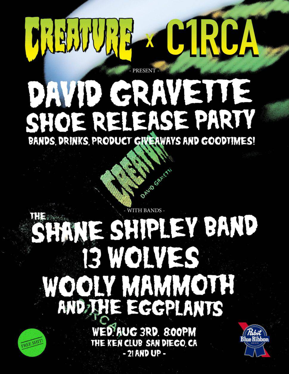 Circa X Creature -- David Gravette Shoe Release Party