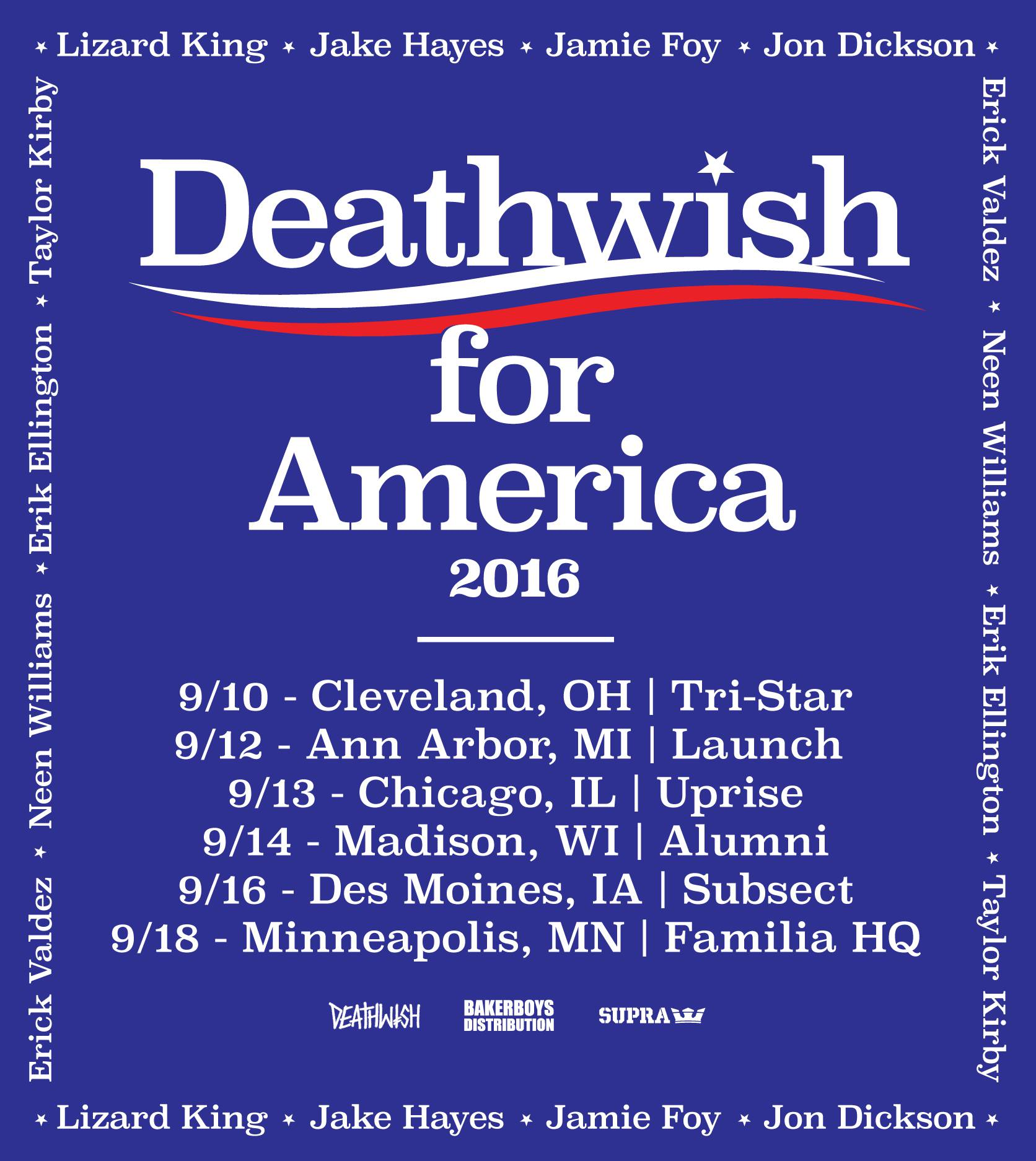 Deathwish for America -- Tour Dates & Stops
