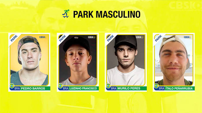 BRAZIL ANNOUNCES ITS OLYMPIC SKATEBOARDING TEAM