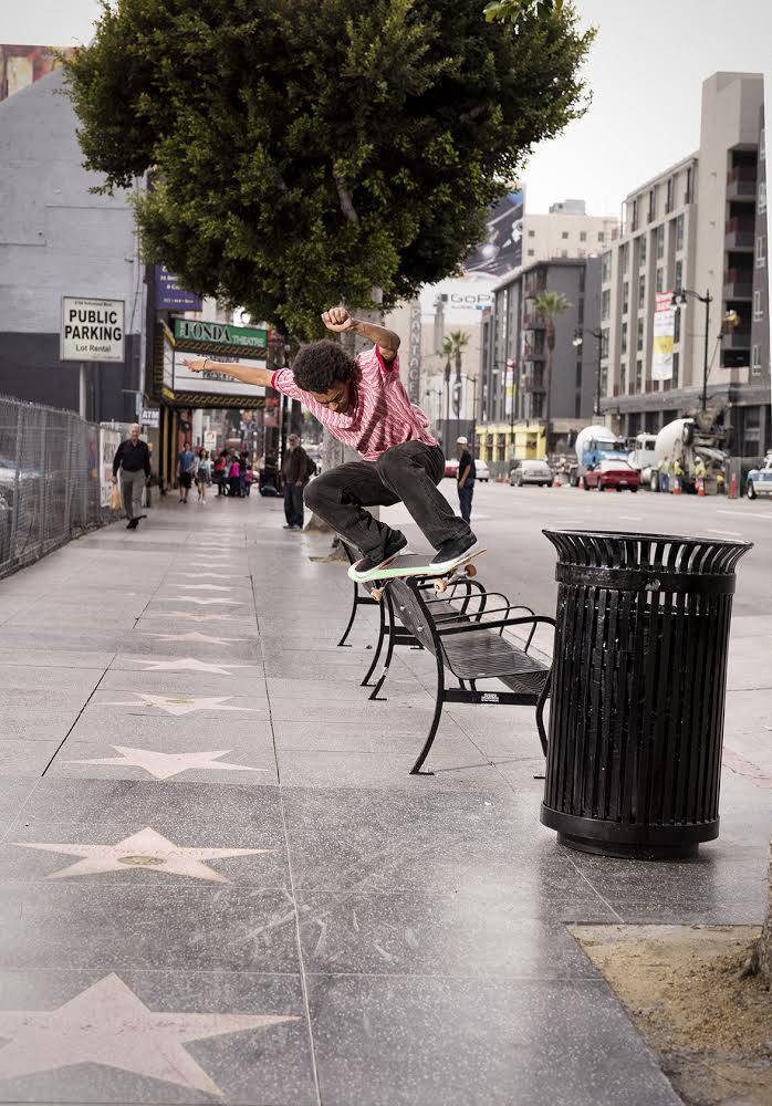 Na-Kel Smith, feeble on the Walk of Fame. Photo: Atiba