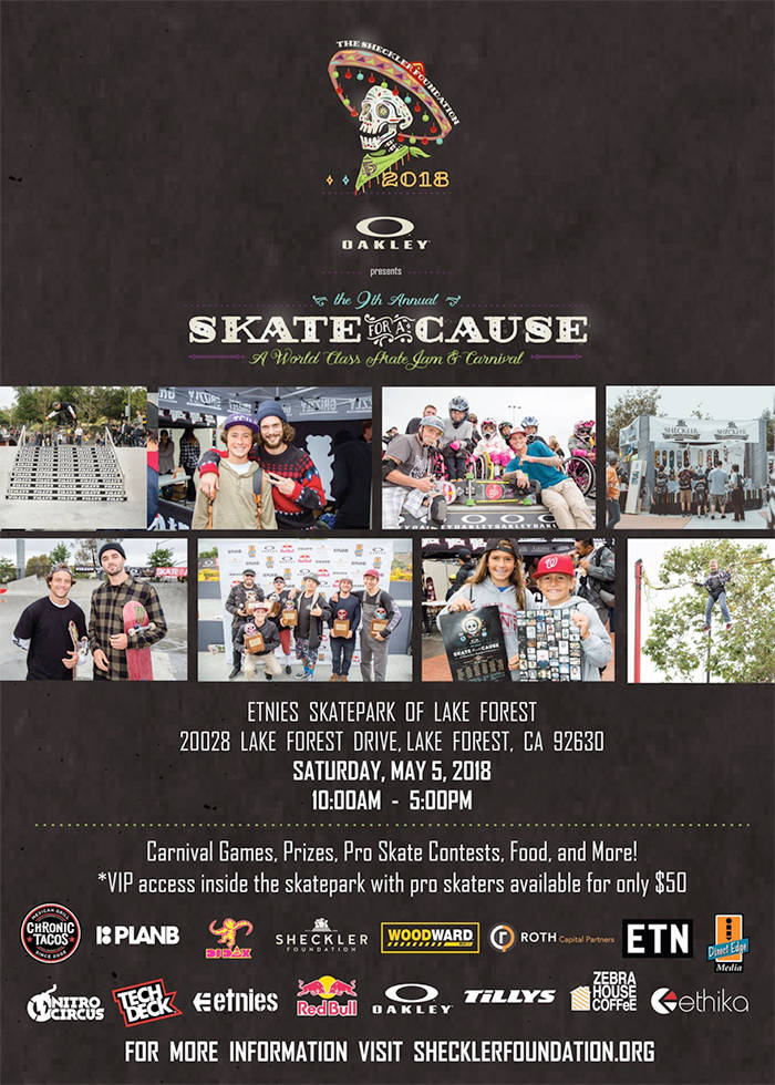 2018 Skate for a Cause Flyer