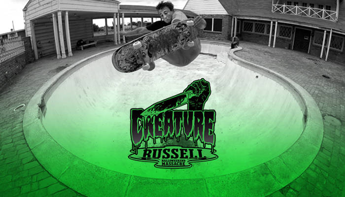 CREATURE HALLOWEEKEND MASSACRE -- Chris Russell Part On The Skateboard Mag