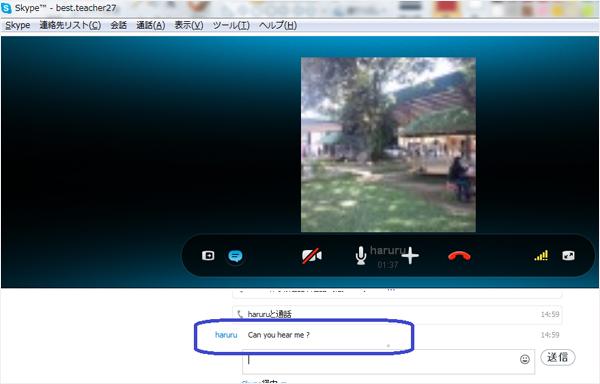 Skypeチャット