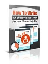 WriteMmbrshpSalesLetter plr Write An Effective Membership Sales Letter
