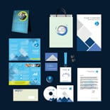 BlueCoolDesignTemp p Blue Cool Print Design Template