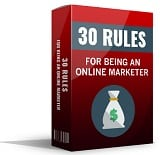 30RulesForOnlineMrktr mrrg 30 Rules For Being An Online Marketer