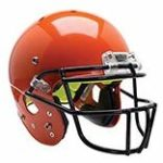 Schutt Sports Youth AiR Standard V Football Helmet with Carbon Steel ROPO-SW-YF Facemask orange