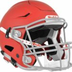 Riddell SpeedFlex Adult Football Helmet with Facemask matte scarlet