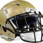 Schutt Vengeance Pro Adult Football Helmet with Facemask vegas gold