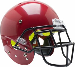 Schutt Sports Youth AiR Standard V Football Helmet with Carbon Steel ROPO-SW-YF Facemask red
