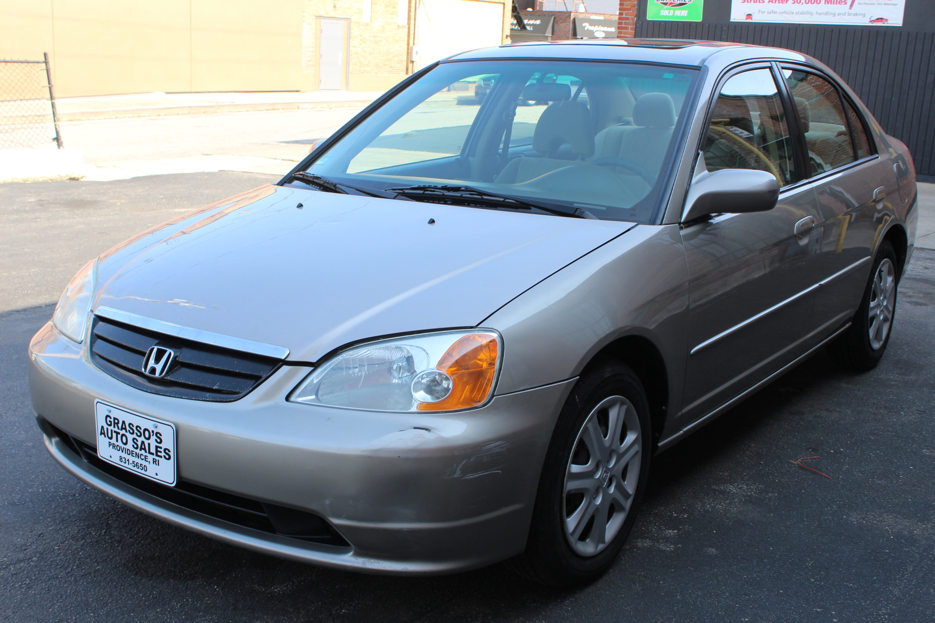 2003 Honda Civic 4dr Sdn EX Auto ONE OWNER  NO ACCIDENTS  DETAILED SERVICE RECORDS  COMPLETELY