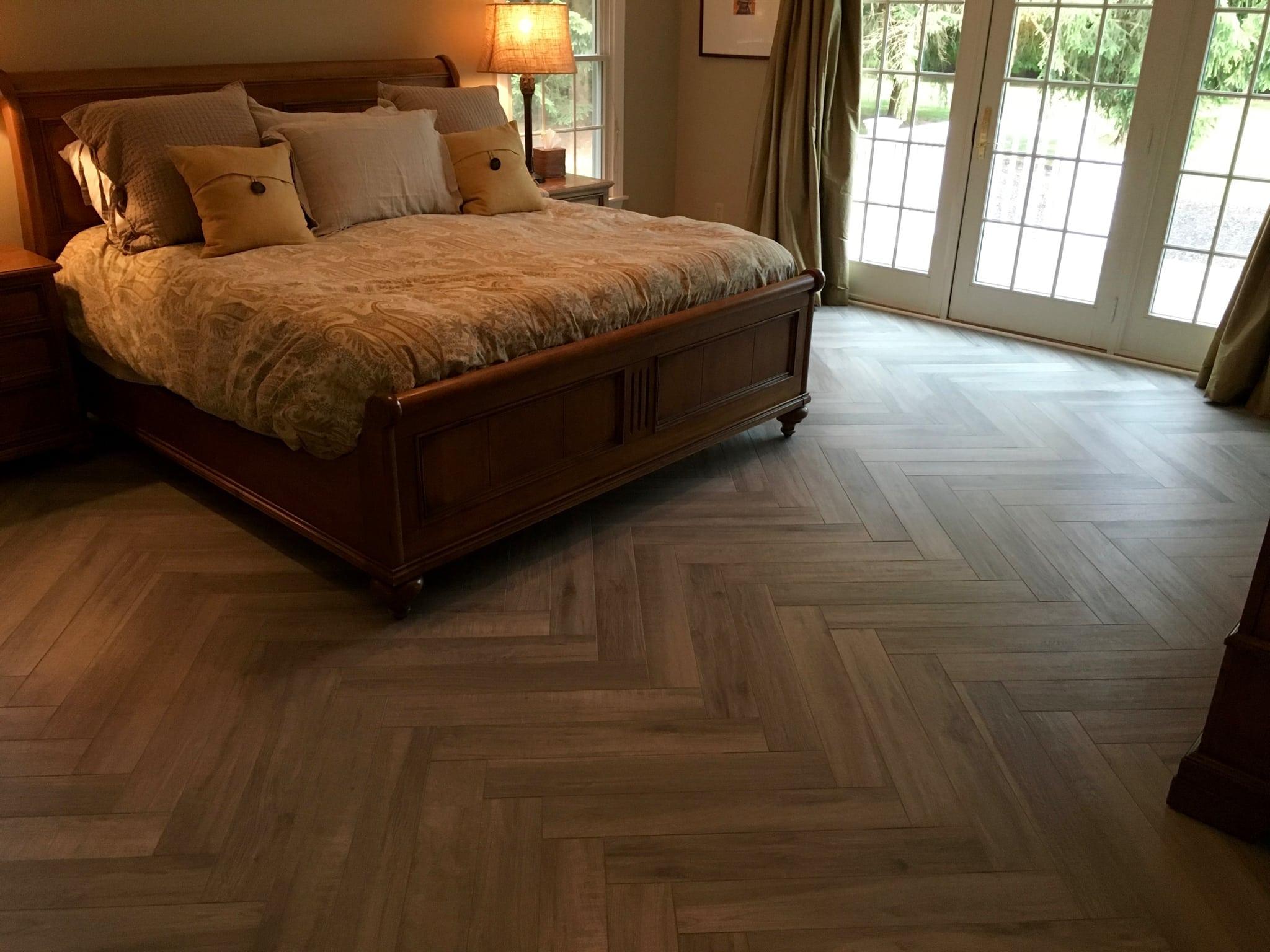 Herringbone Tile Pattern By Best Tile And Wood Rt 31 Flemington Nj