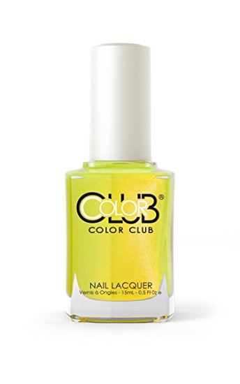 nail colors to make you look tan, neon yellow