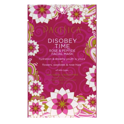 pacifica disobey time sheet mask, best sheet masks for airplanes