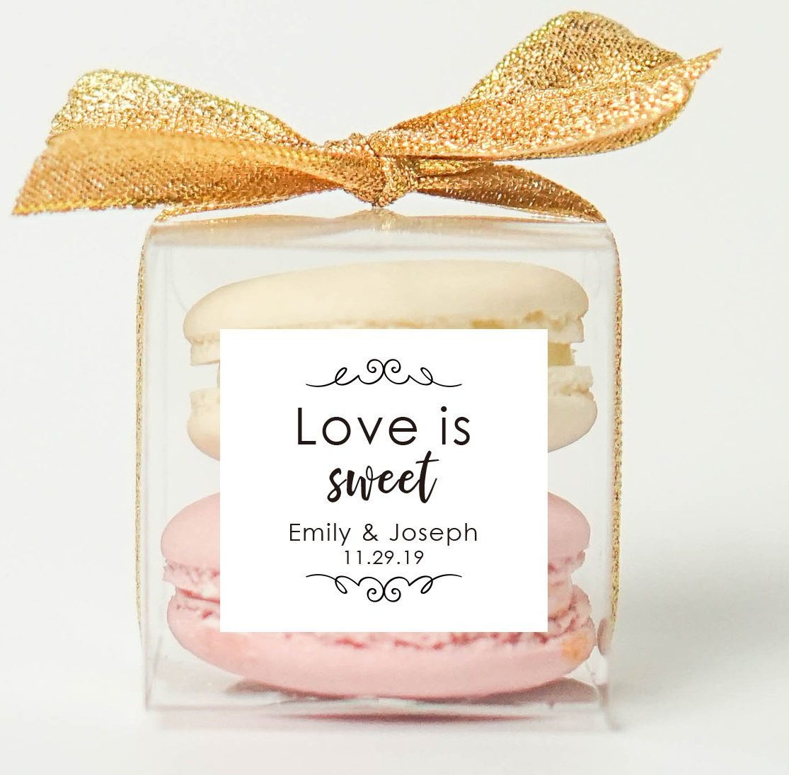 Ideas For Wedding Gifts: 10 Sets Of Wedding Clear Macaron Packaging, Macaron