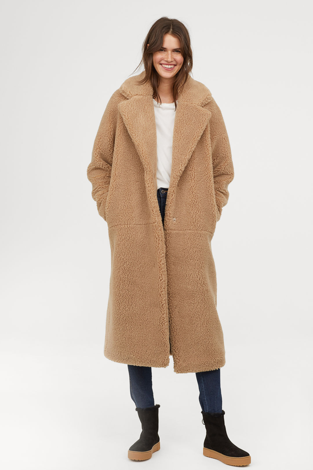 H&M Long Pile Coat
