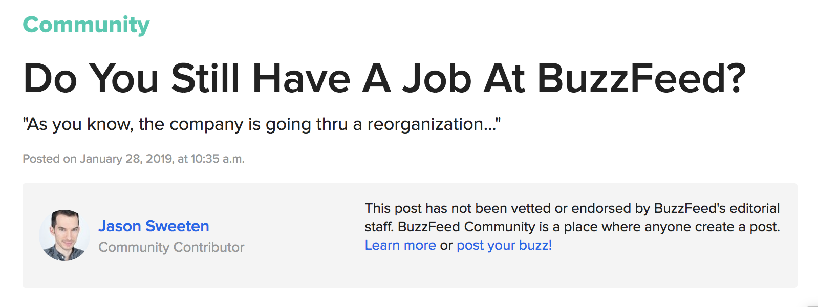 Former BuzzFeed Employee Spilled The Tea On Getting Fired