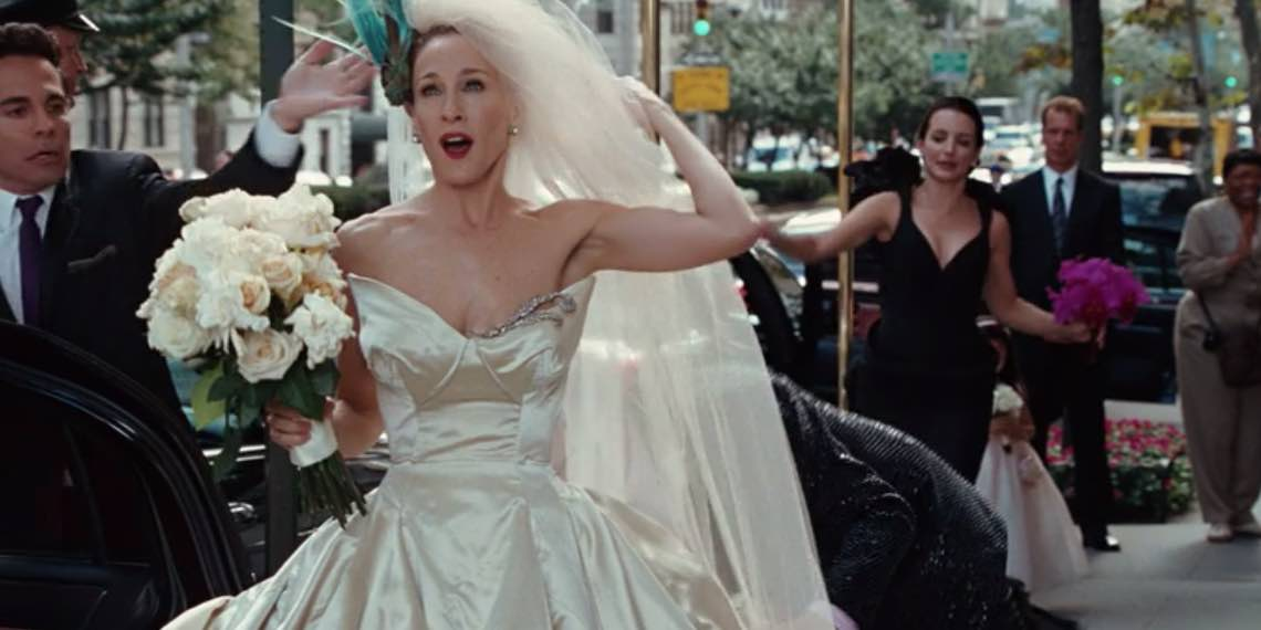 Carry Bradshaw Wedding Dress.Where To Buy The Iconic Wedding Dresses From Your Favorite Movies