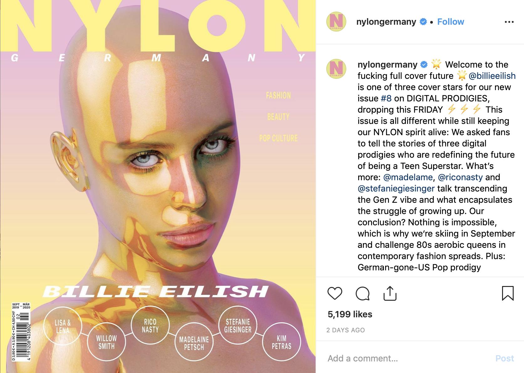 Billie Eilish Nude billie eilish slammed 'nylon' for their f*cked up cover