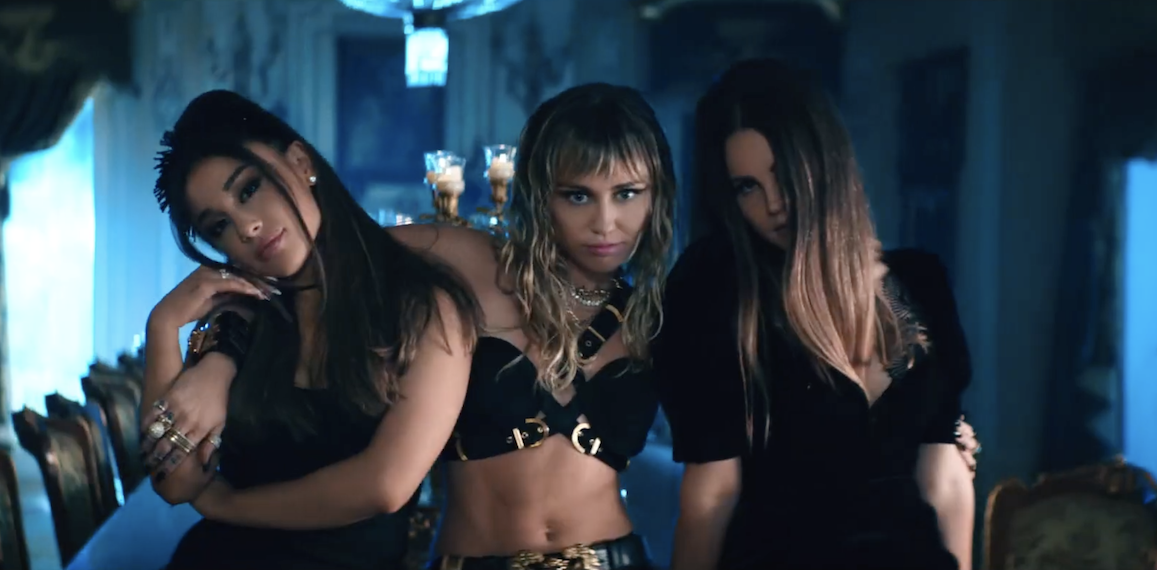Miley, Ariana, & Lana's New Video Is A Chaotic Mess