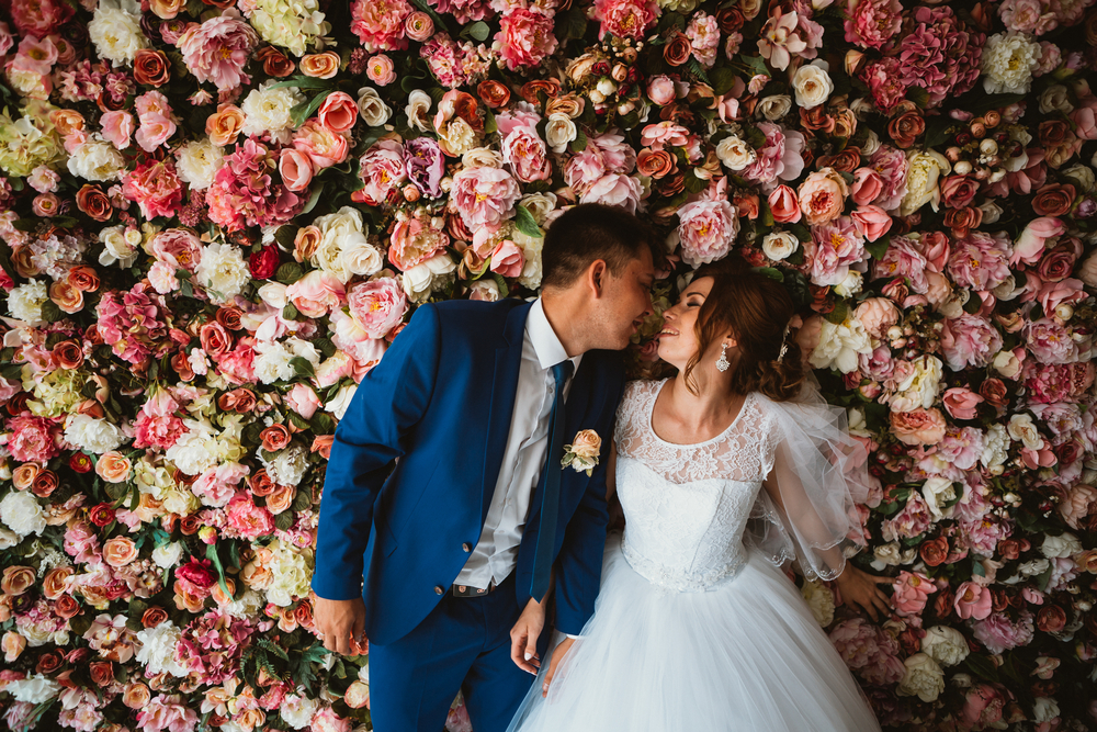 wedding floral wall