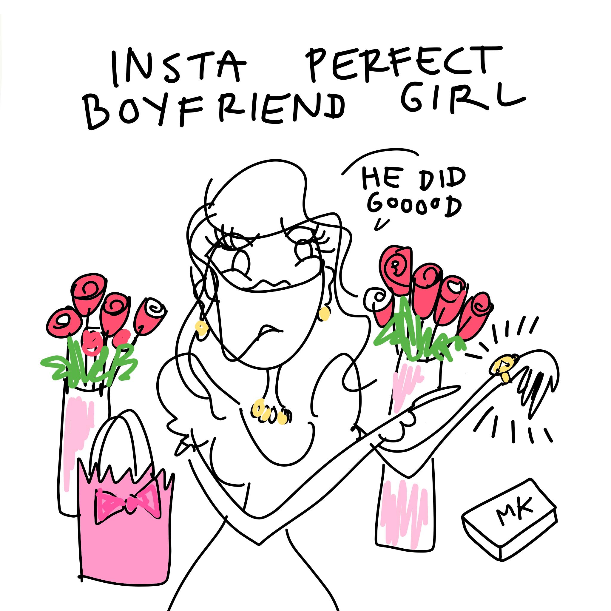 Girls on Valentine's Day