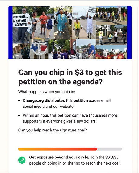Change.org chip in