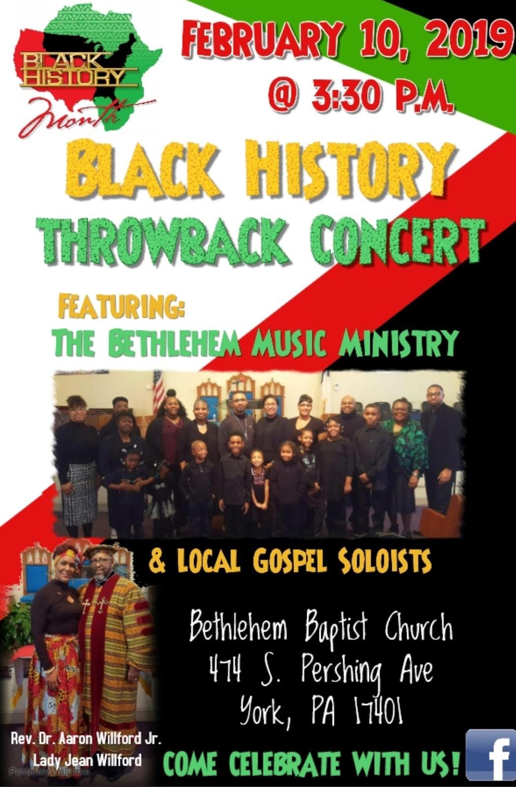 Black History Throwback Concert Flyer
