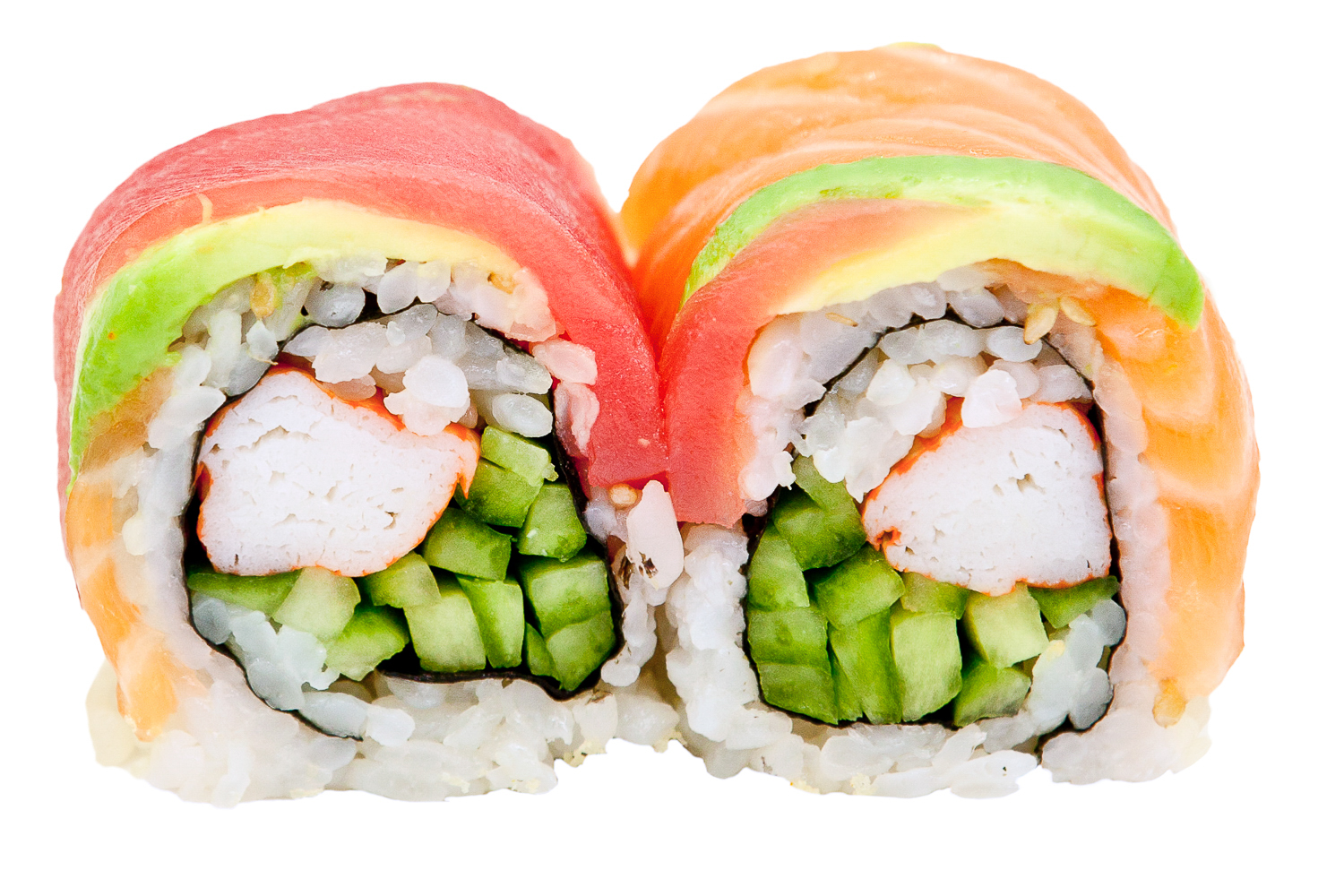 how to make rainbow roll