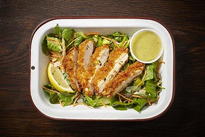 Chicken - Cornflake Crusted Salad