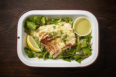Whitefish - Lemon Broiled Salad