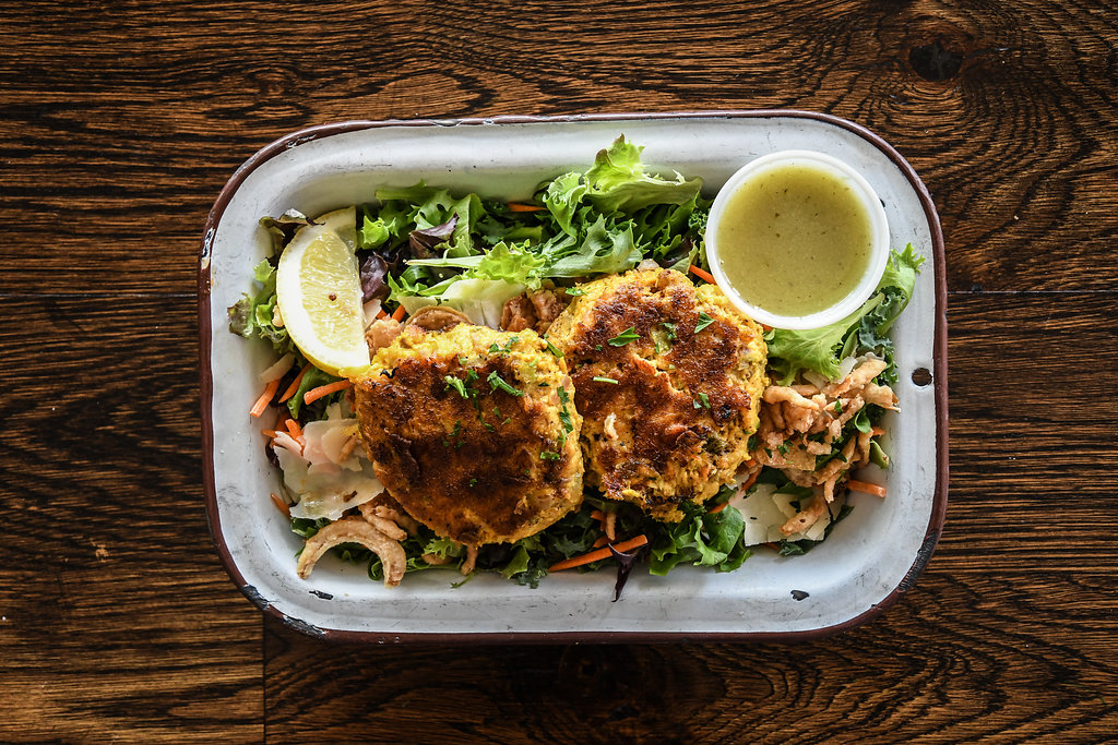 Curry Fish Cakes Salad