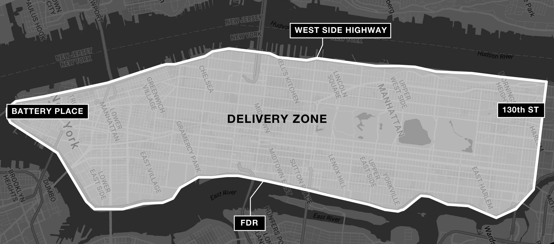Manhattan Delivery Zone